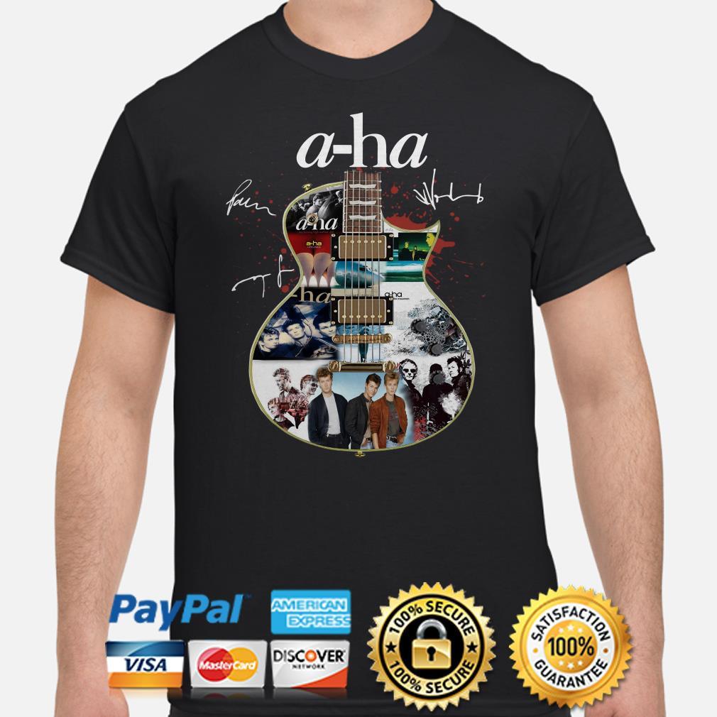 Guitar A-Ha signature shirt
