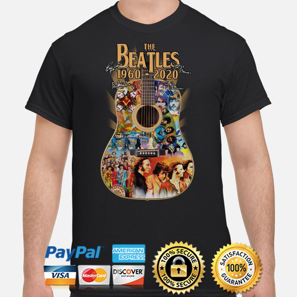 Guitar The Beatles 1960 2020 signature shirt