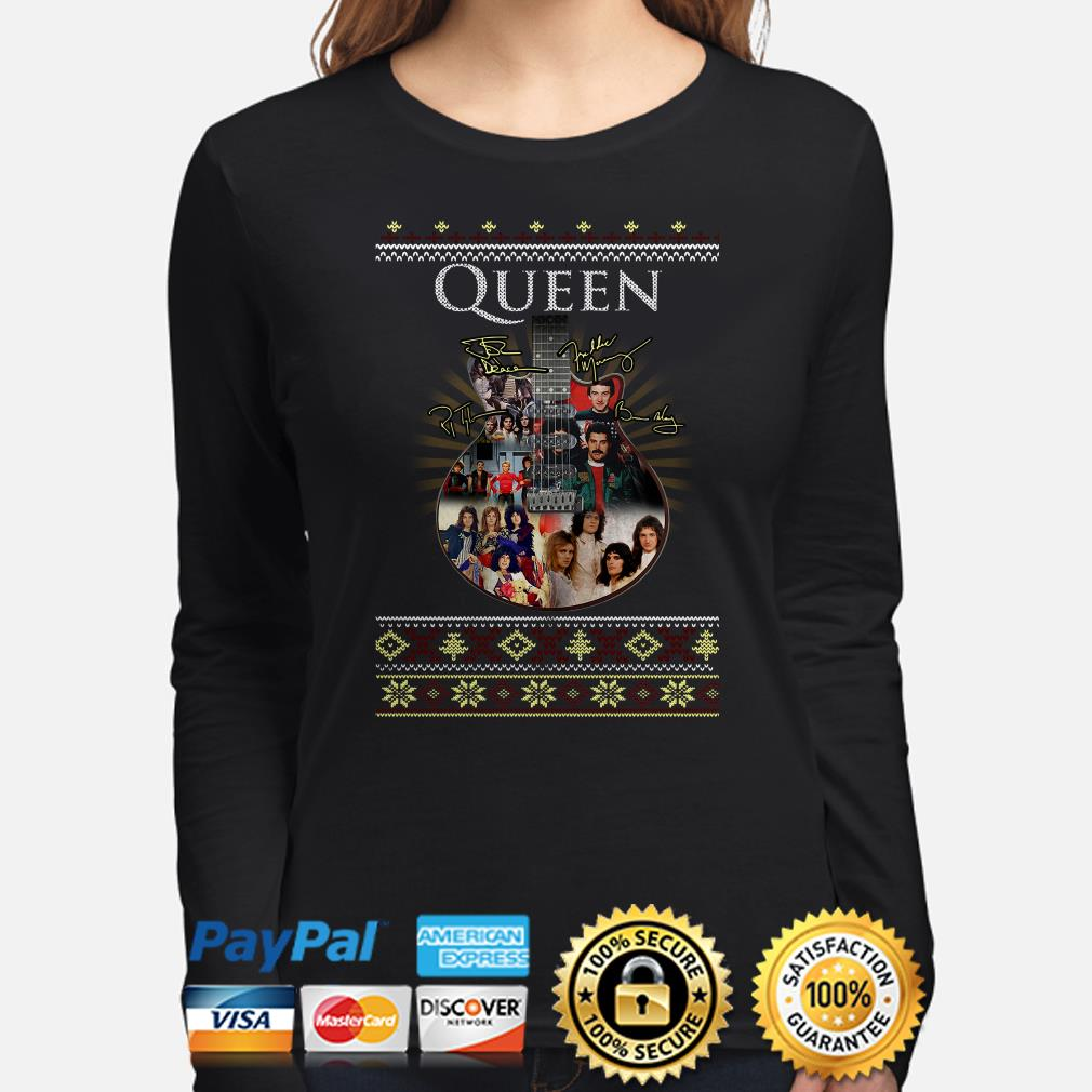 Guitar Queen signature ugly Christmas long sleeve