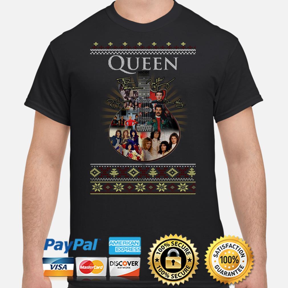 Guitar Queen signature ugly Christmas T-shirt