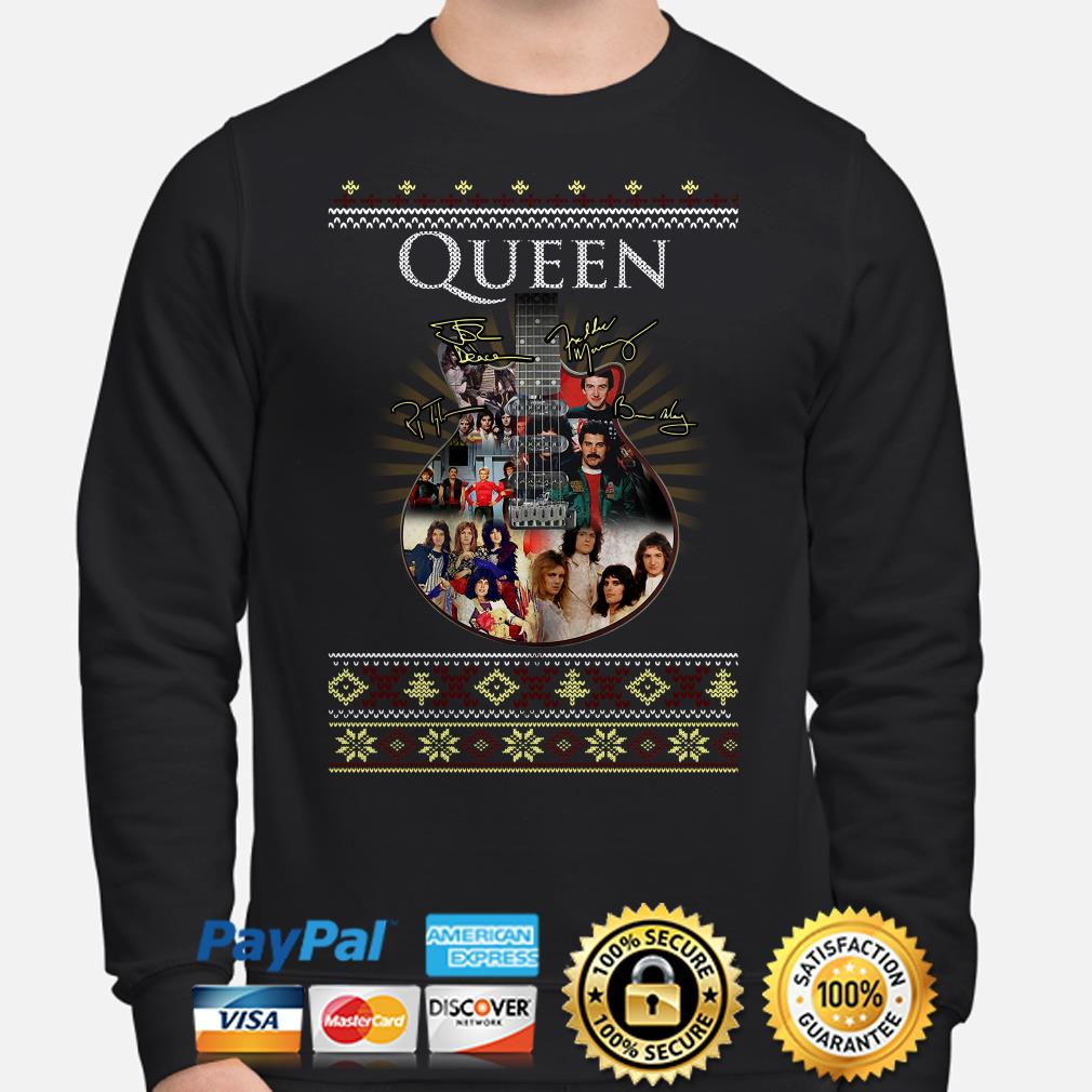 Guitar Queen signature ugly Christmas sweater
