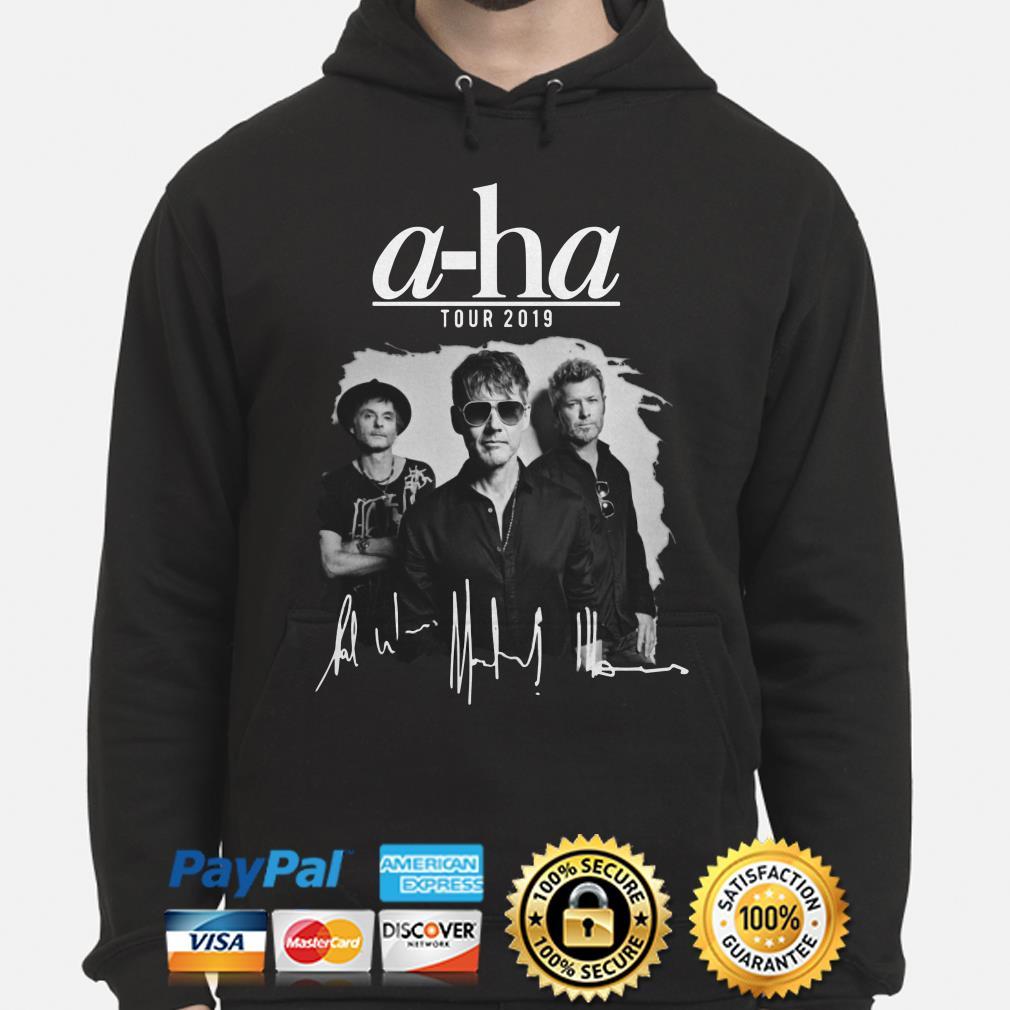A-ha tour 2019 signature hoodie