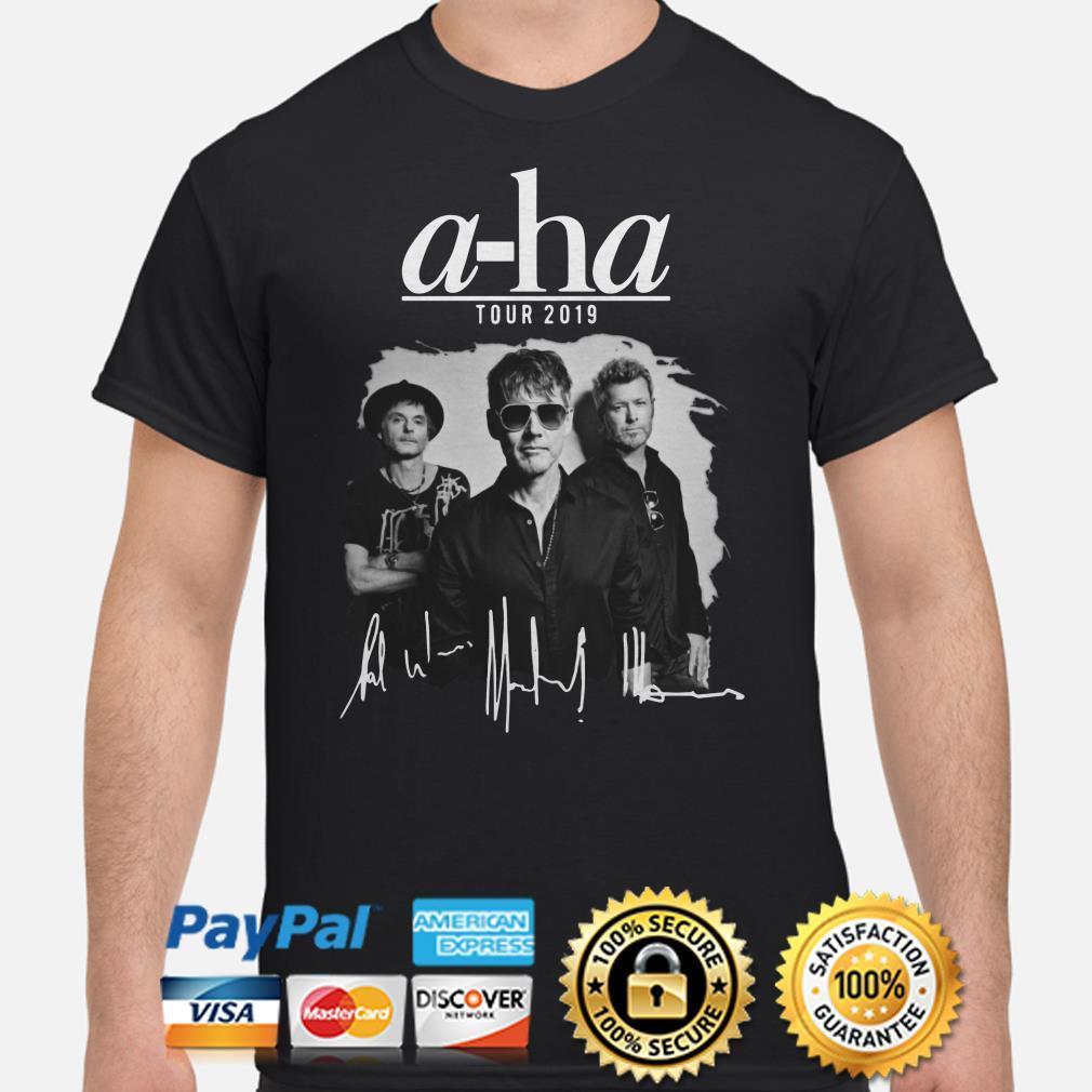 A-ha tour 2019 signature shirt