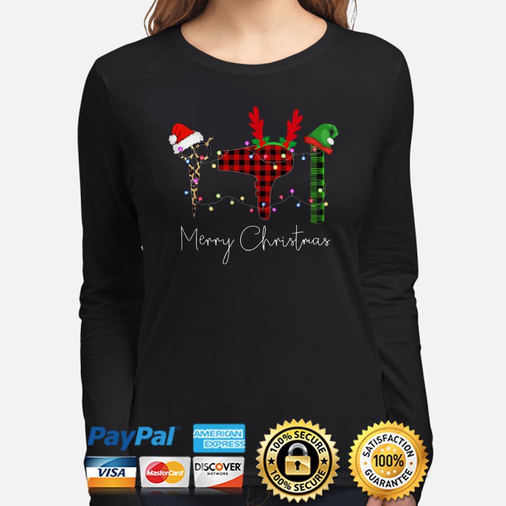 Hair Stylist Christmas lights Christmas long sleeve