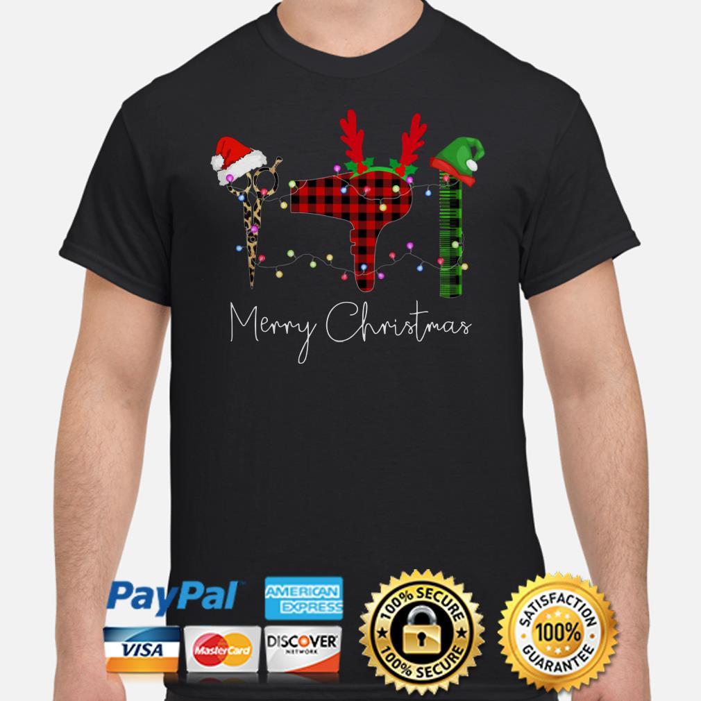 Hair Stylist Christmas lights Christmas t-shirt