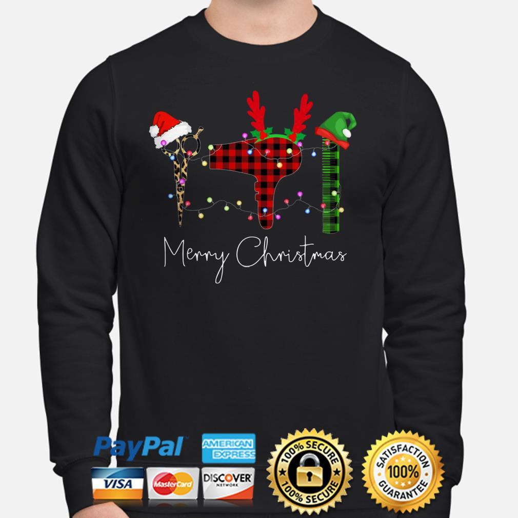 Hair Stylist Christmas lights Christmas sweater