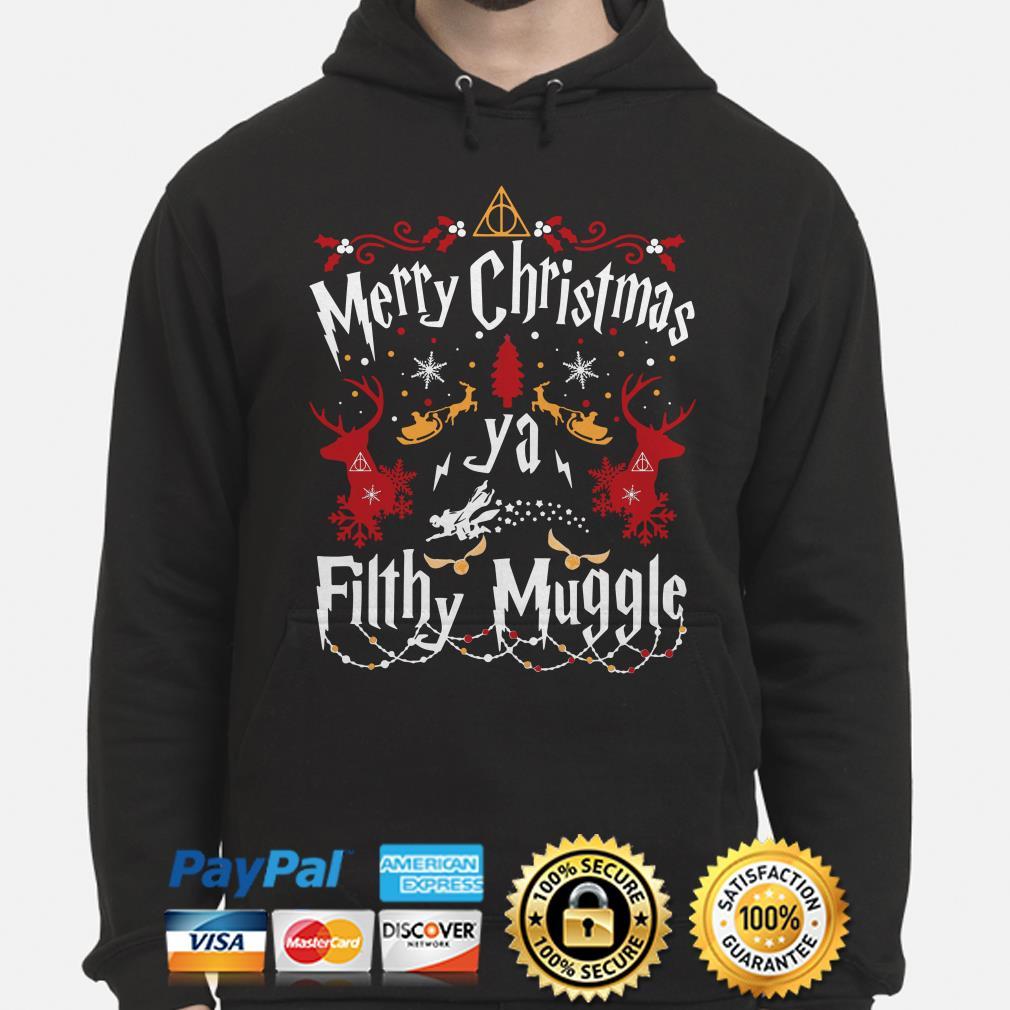 Harry Potter Merry Christmas ya Fillhy Muggle Christmas hoodie