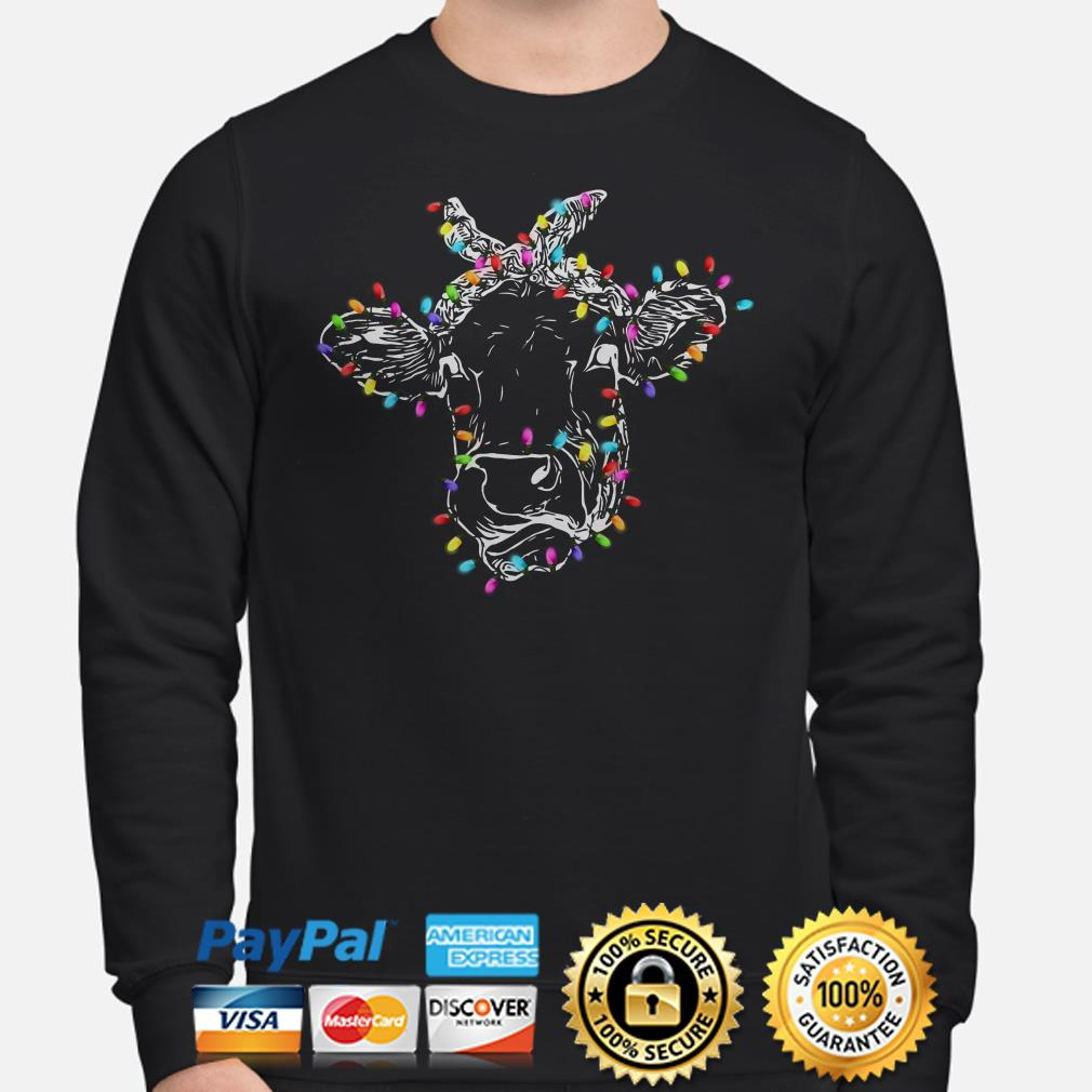 Heifer Christmas lights Sweater