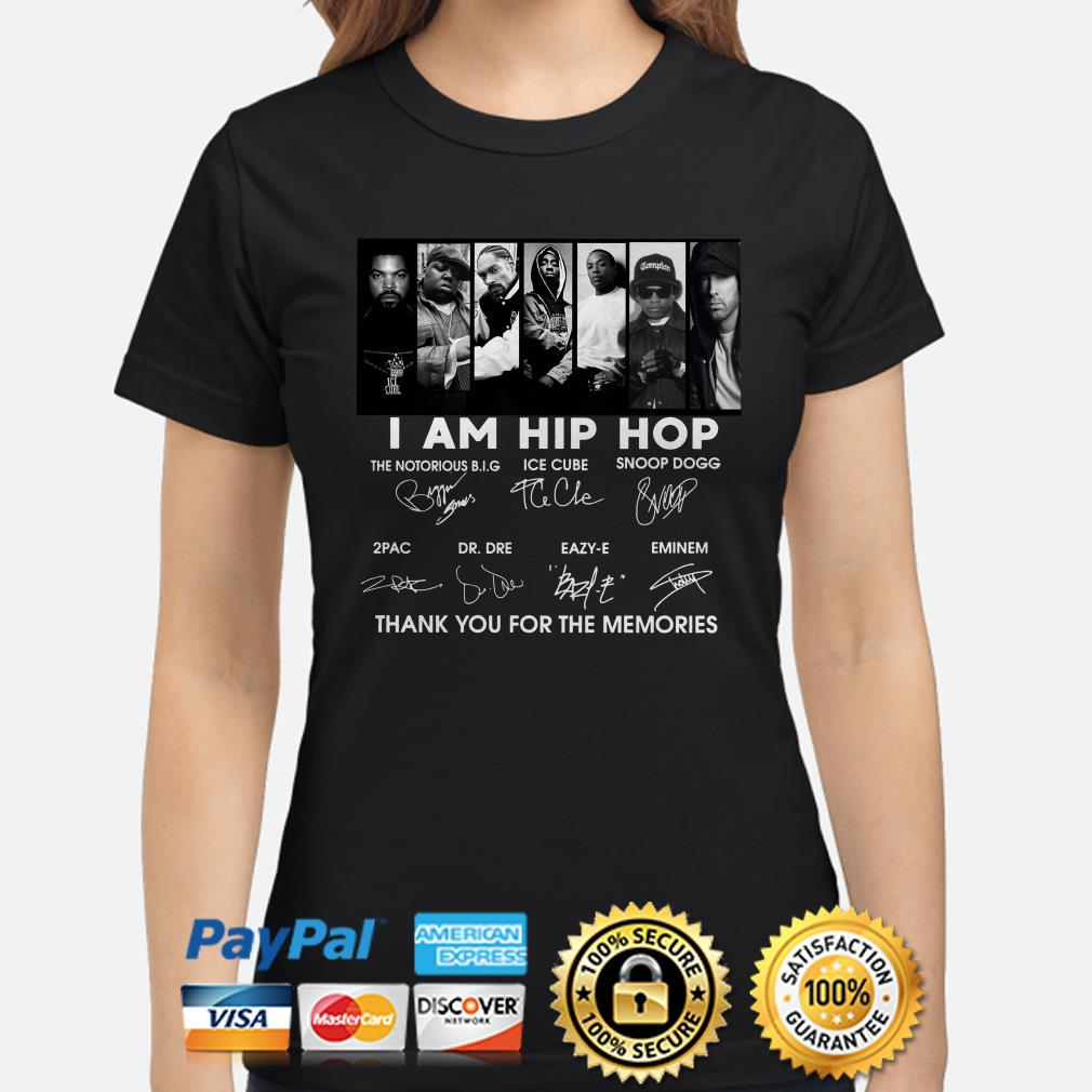 I am Hip Hop thank you for the memories signature ladies shirt