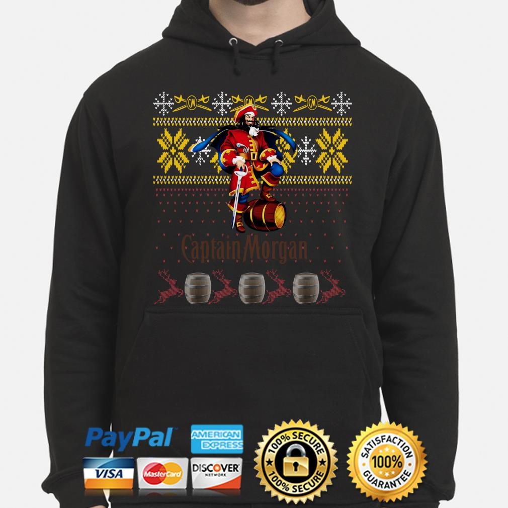 Captain Morgan ugly Christmas hoodie