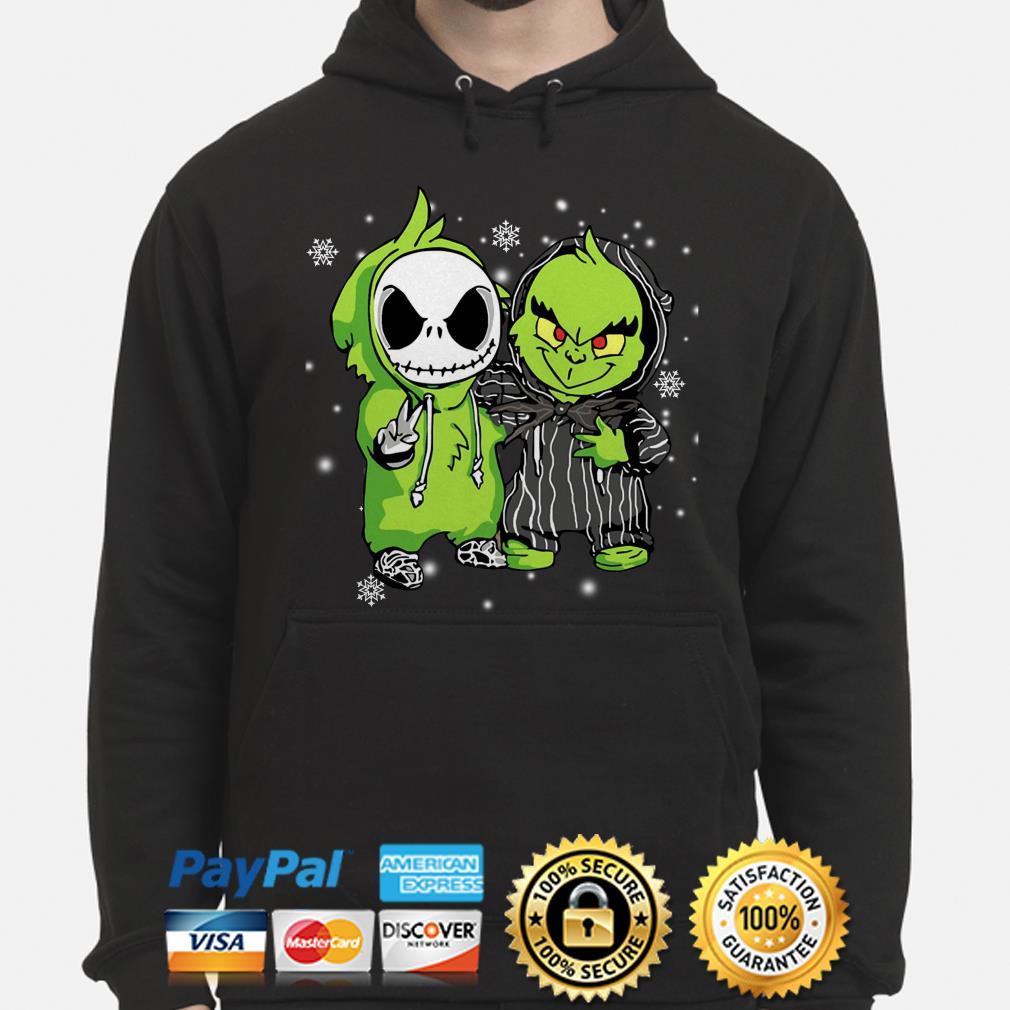 Baby Jack Skelling ton and Grinch Christmas hoodie