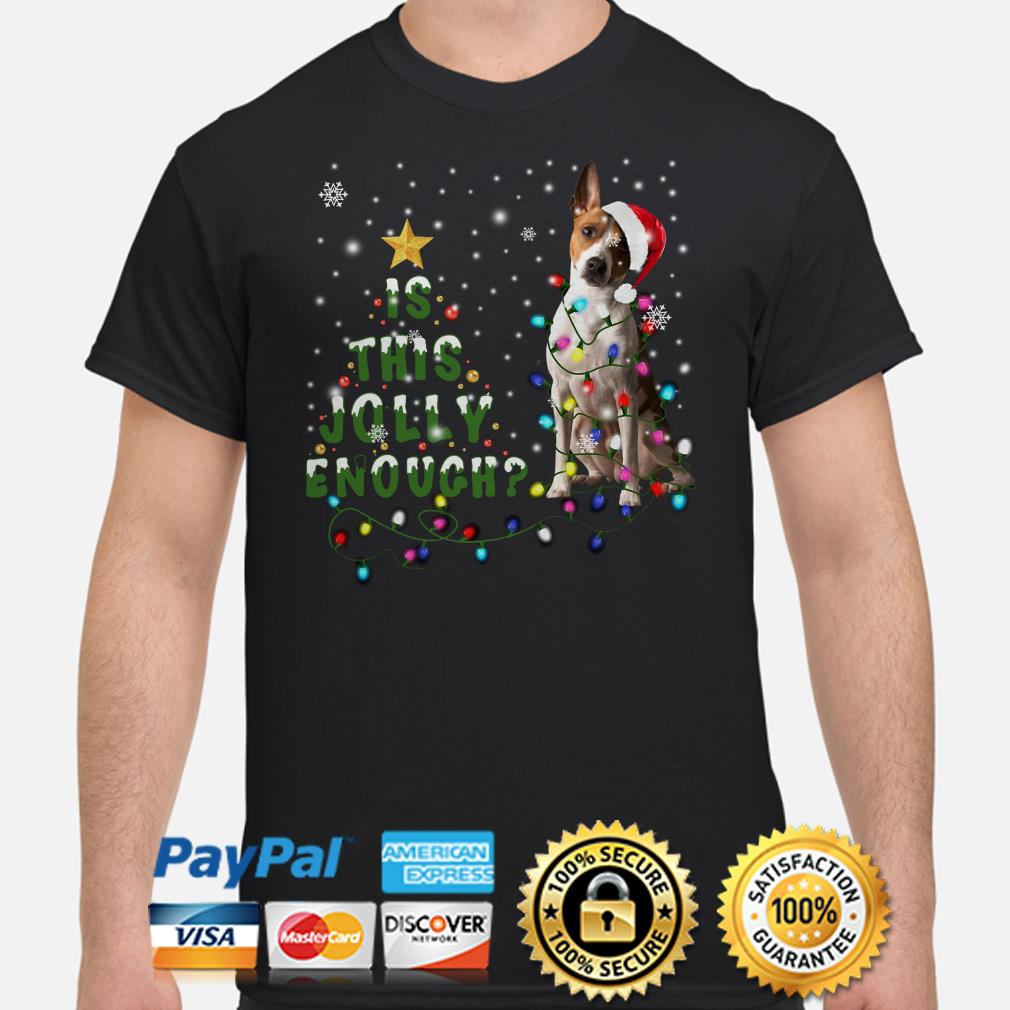 Jack russell is this Jolly enough Christmas t-shirt