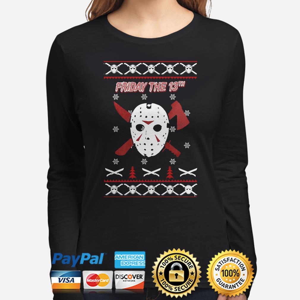 Jason Voorhees Friday the 13th ugly Christmas long sleeve