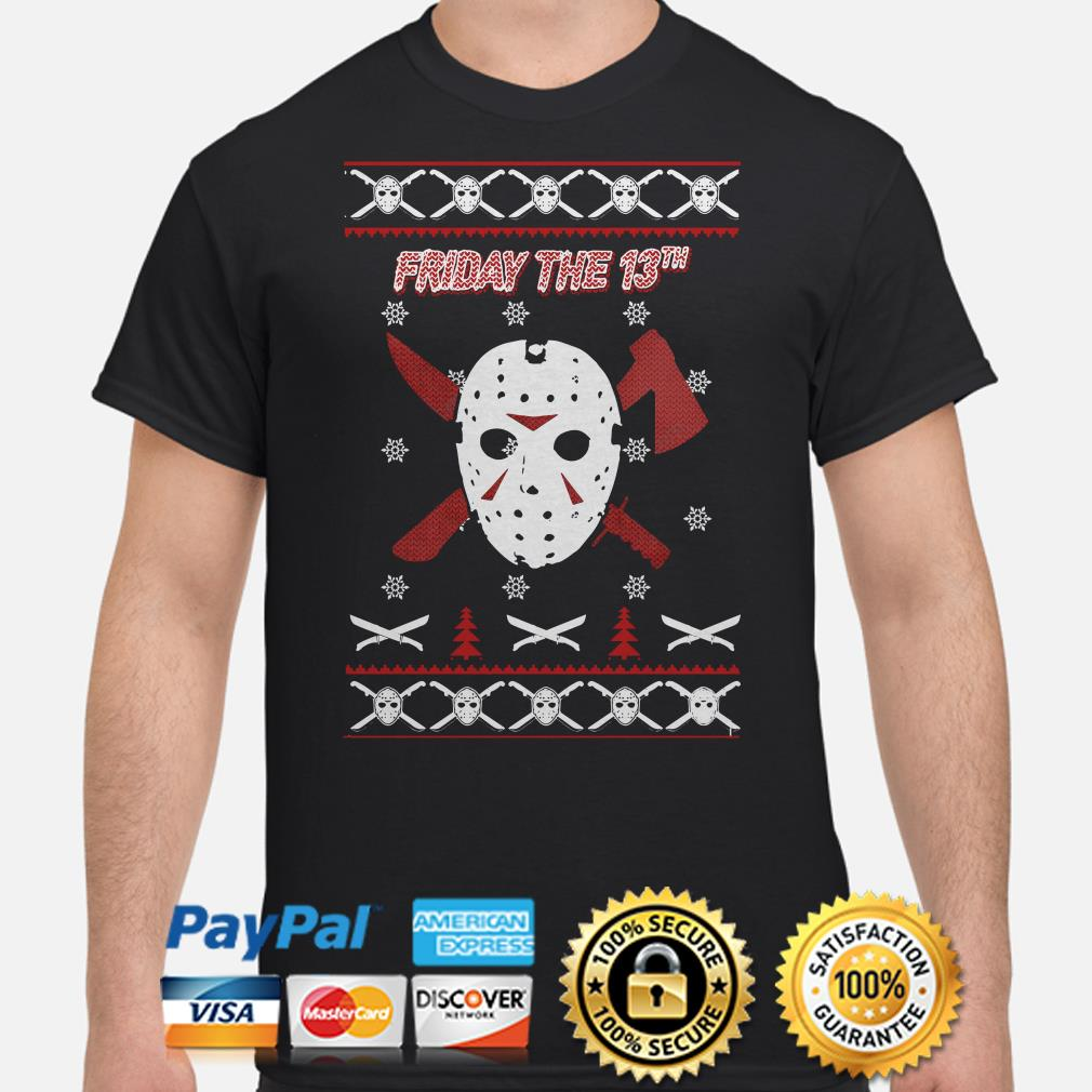 Jason Voorhees Friday the 13th ugly Christmas t-shirt
