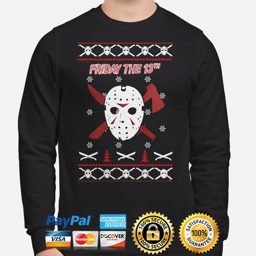 Jason Voorhees Friday the 13th ugly Christmas sweater