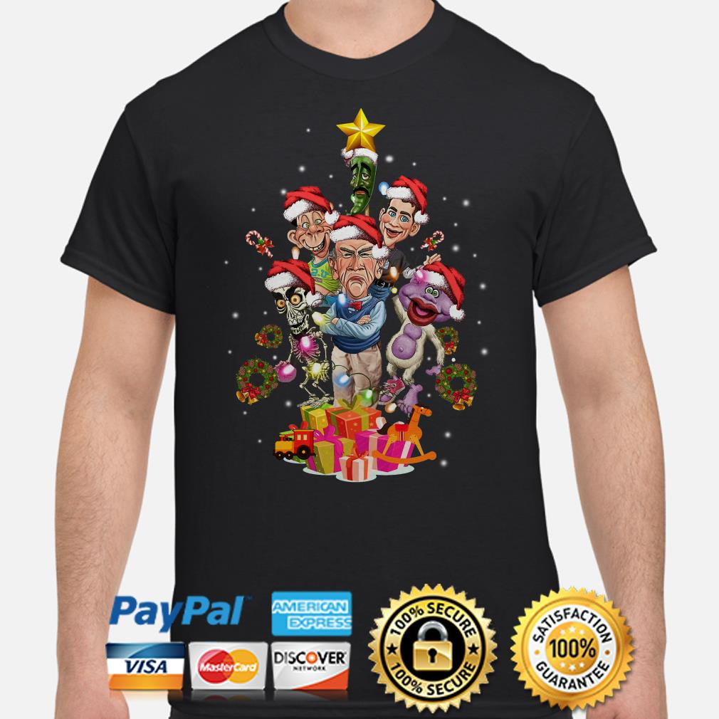 Jeff Dunham Characters Christmas tree shirt
