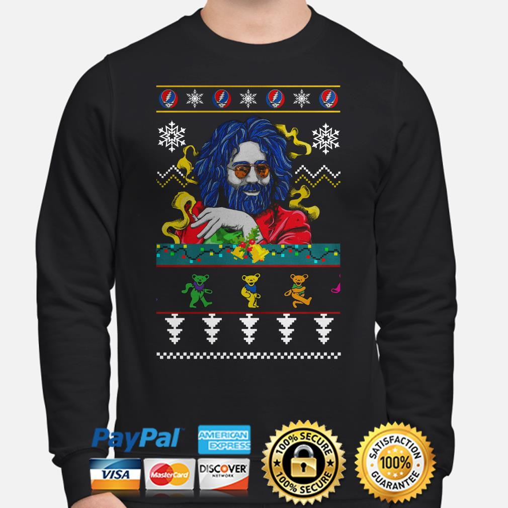Jerry Garcia Grateful Dead Grateful Dead Dancing Bears ugly Christmas sweater