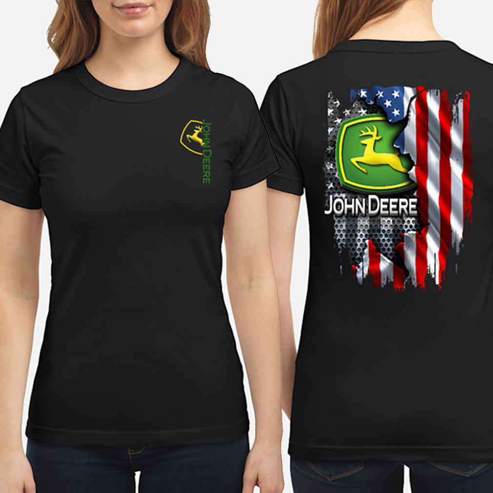 John Deere American flag ladies shirt