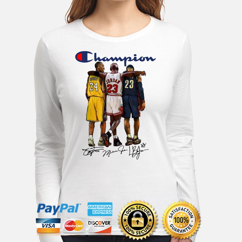 Kobe Bryant, Michael Jordan and Lebron James Champions signature Long sleeve