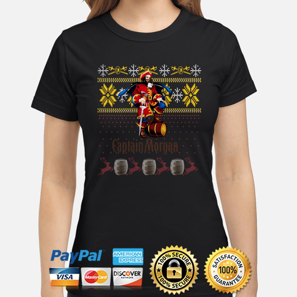 Captain Morgan ugly Christmas ladies shirt