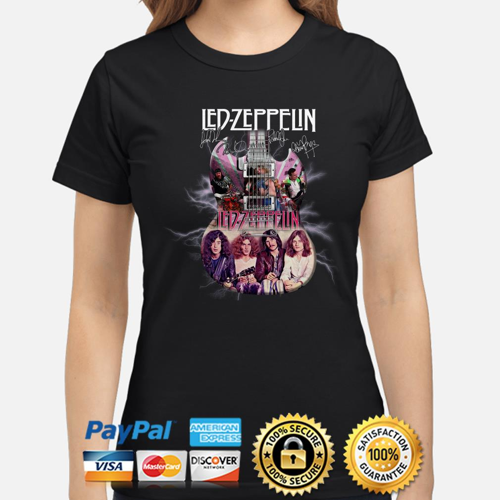 Led Zeppelin Guitar signature ladies shirt