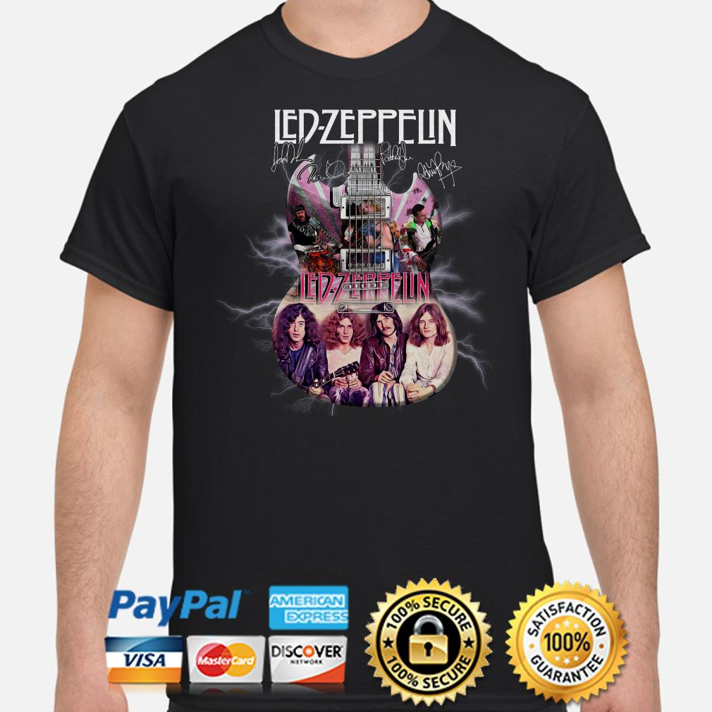 Led Zeppelin Guitar signature shirt