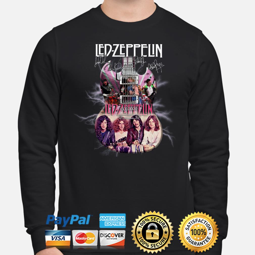 Led Zeppelin Guitar signature sweater