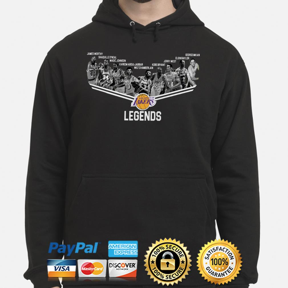 Los Angeles Lakers Legends players signature hoodie