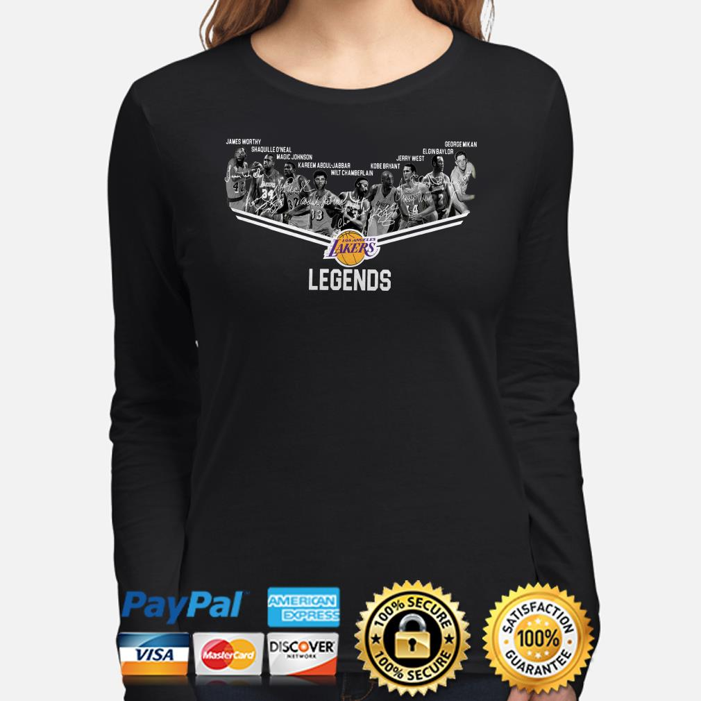 Los Angeles Lakers Legends players signature long sleeve