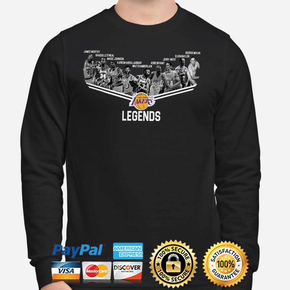 Los Angeles Lakers Legends players signature sweater