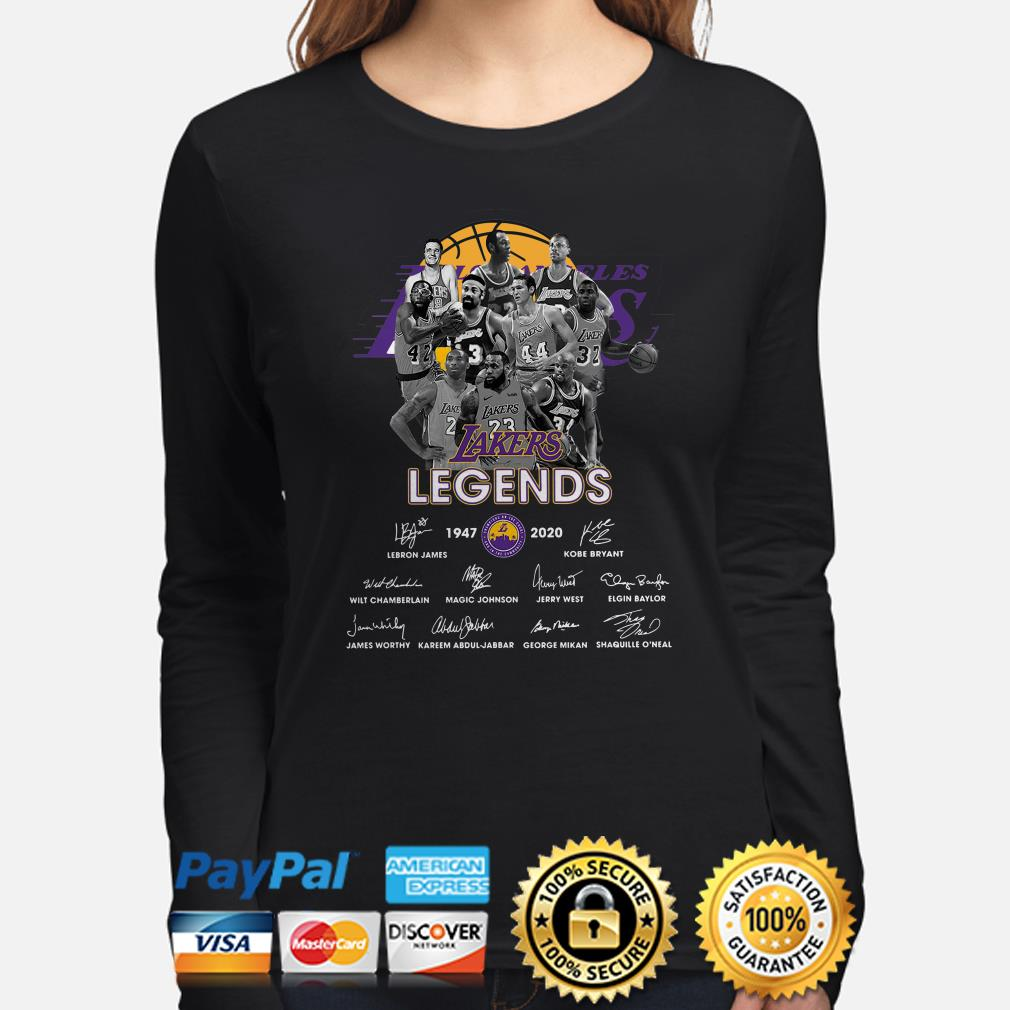 Los Angeles Lakers Legends signature 1947 2020 Long sleeve