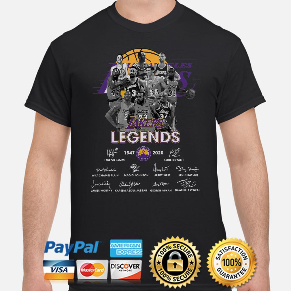 Los Angeles Lakers Legends signature 1947 2020 shirt