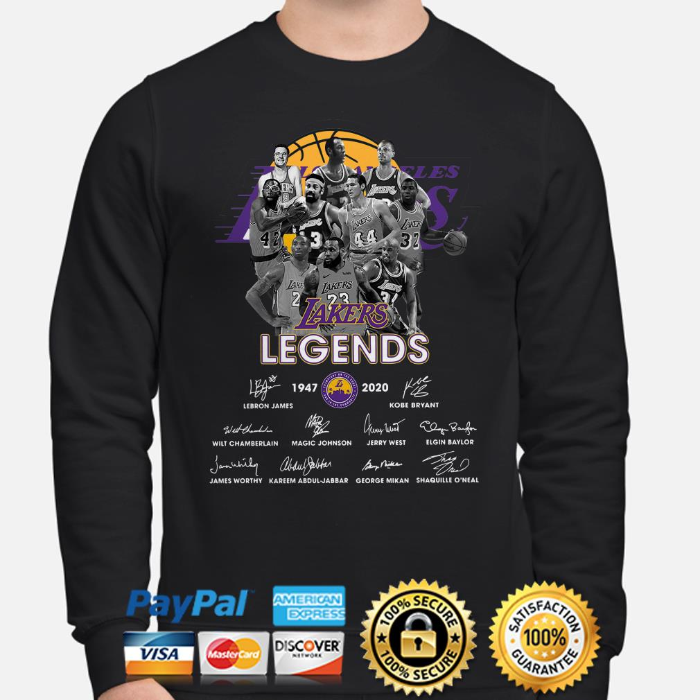 Los Angeles Lakers Legends signature 1947 2020 Sweater
