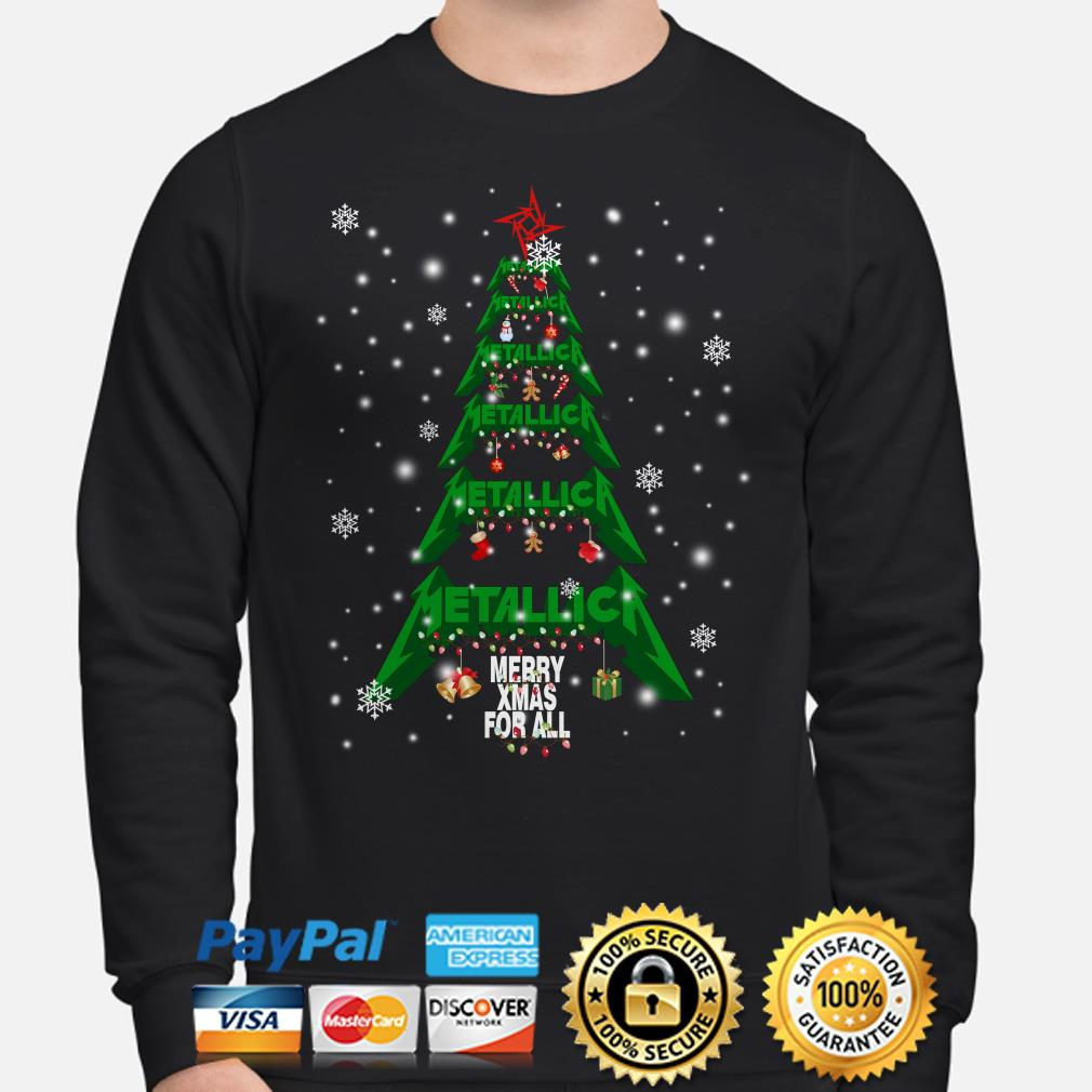 Metallica Christmas tree Merry Xmas for all sweater