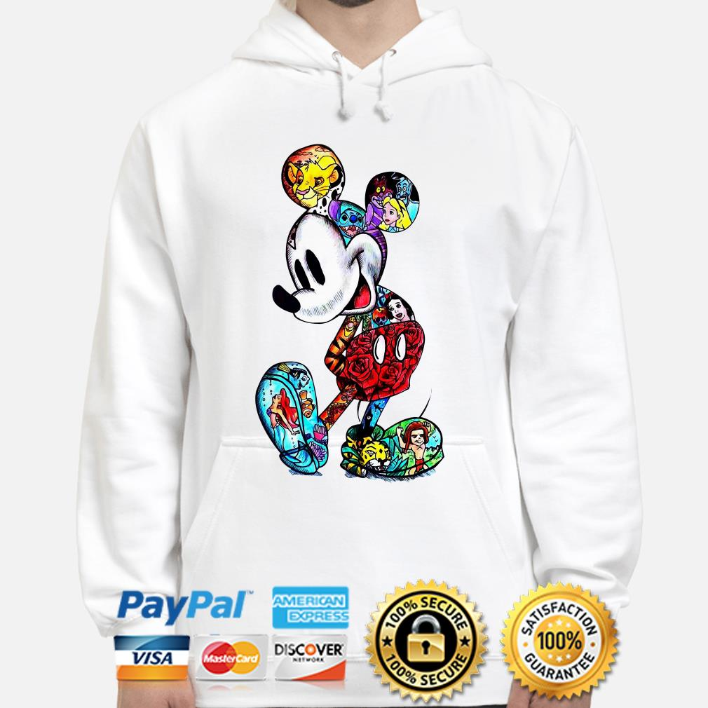 Mickey Mouse Tattoos Disney characters hoodie