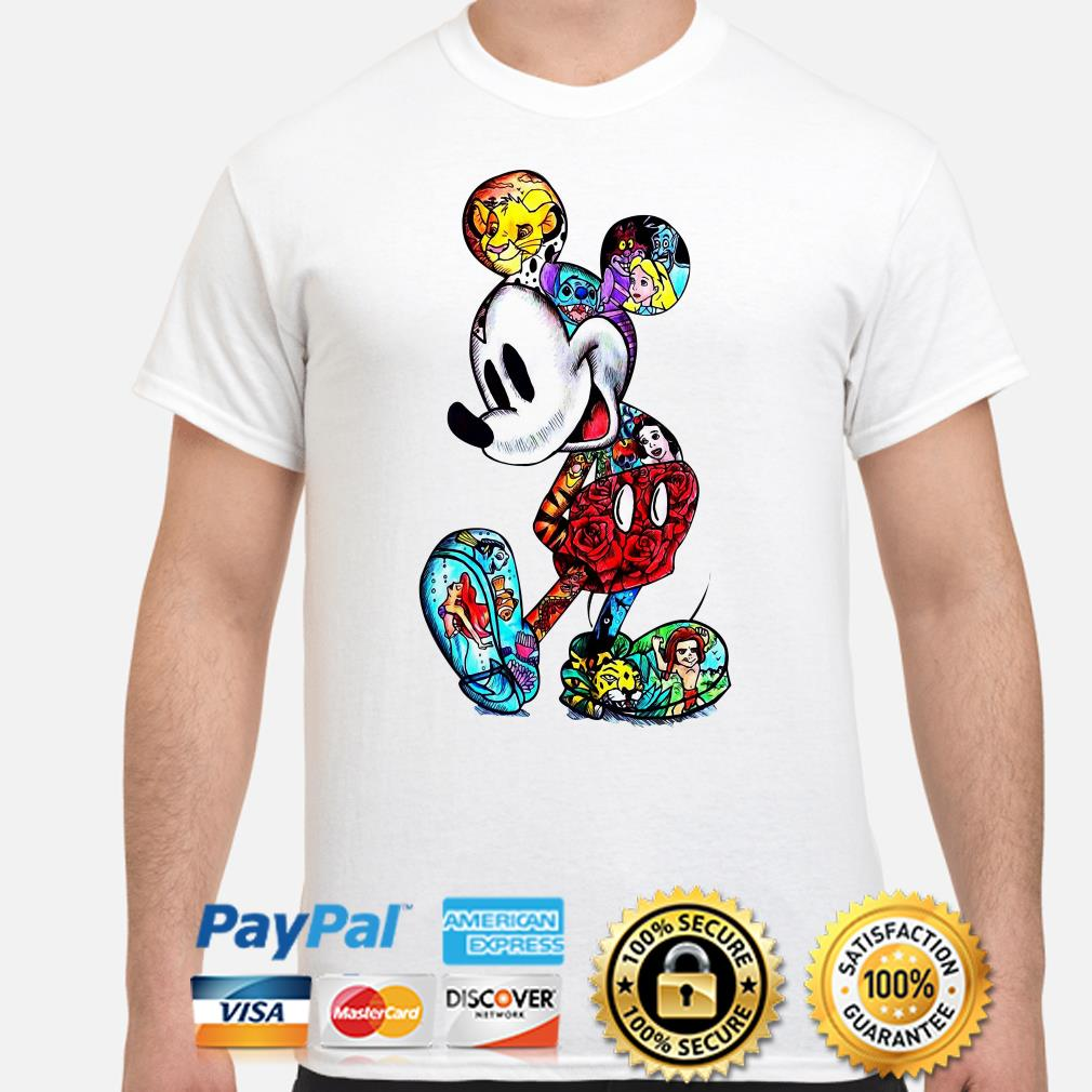 Mickey Mouse Tattoos Disney characters shirt