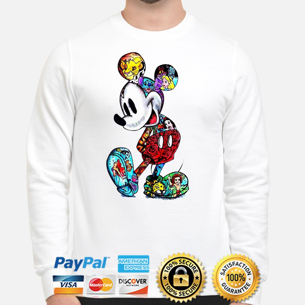 Mickey Mouse Tattoos Disney characters sweater