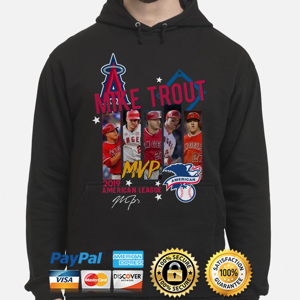 Mike Trout MVp 2019 American League signature Hoodie