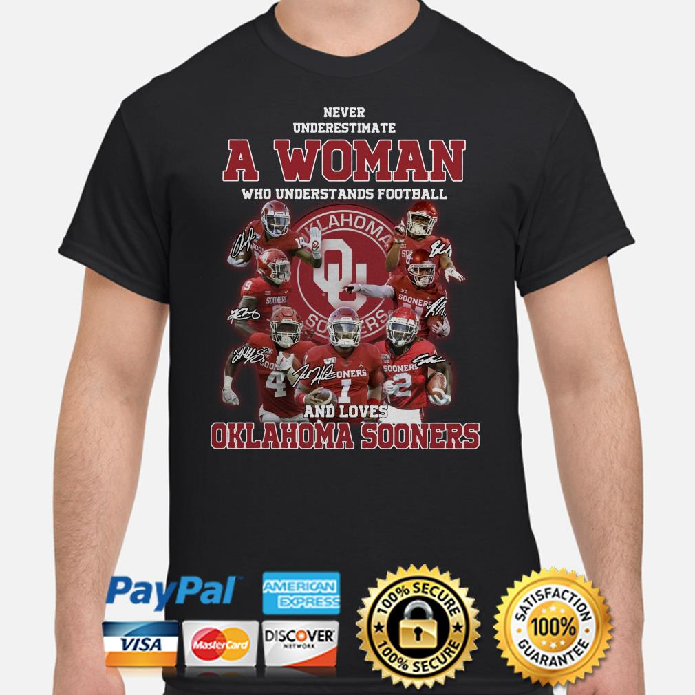 Never underestimate a woman who understands baseball and loves Oklahoma Sooners shirt
