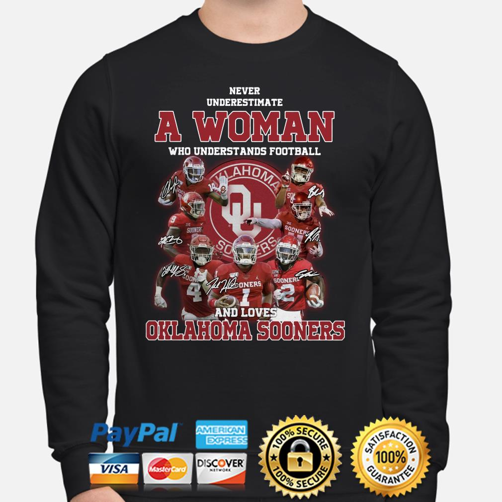 Never underestimate a woman who understands baseball and loves Oklahoma Sooners Sweater