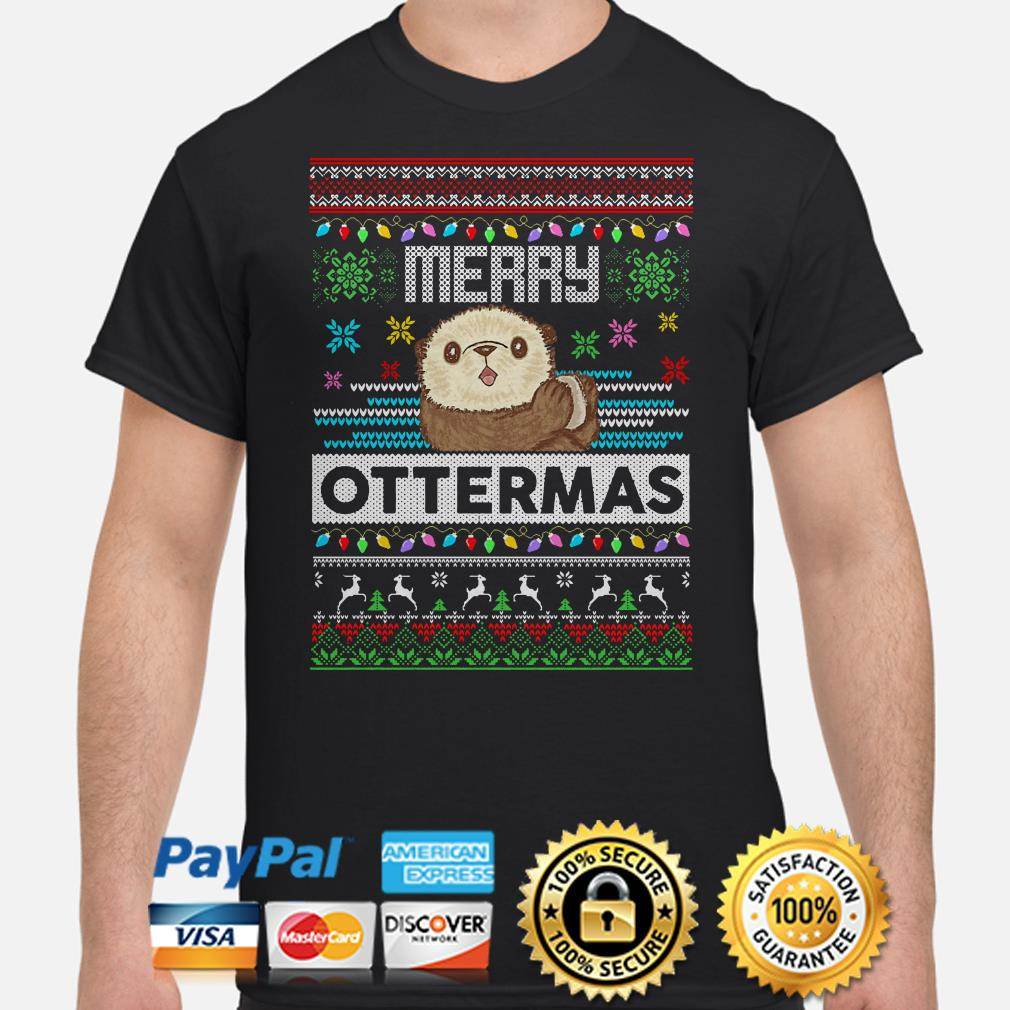 Otter Merry Ottermas ugly Christmas T-shirt