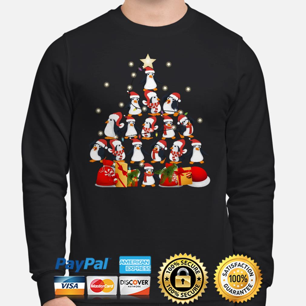Penguins Christmas tree sweater