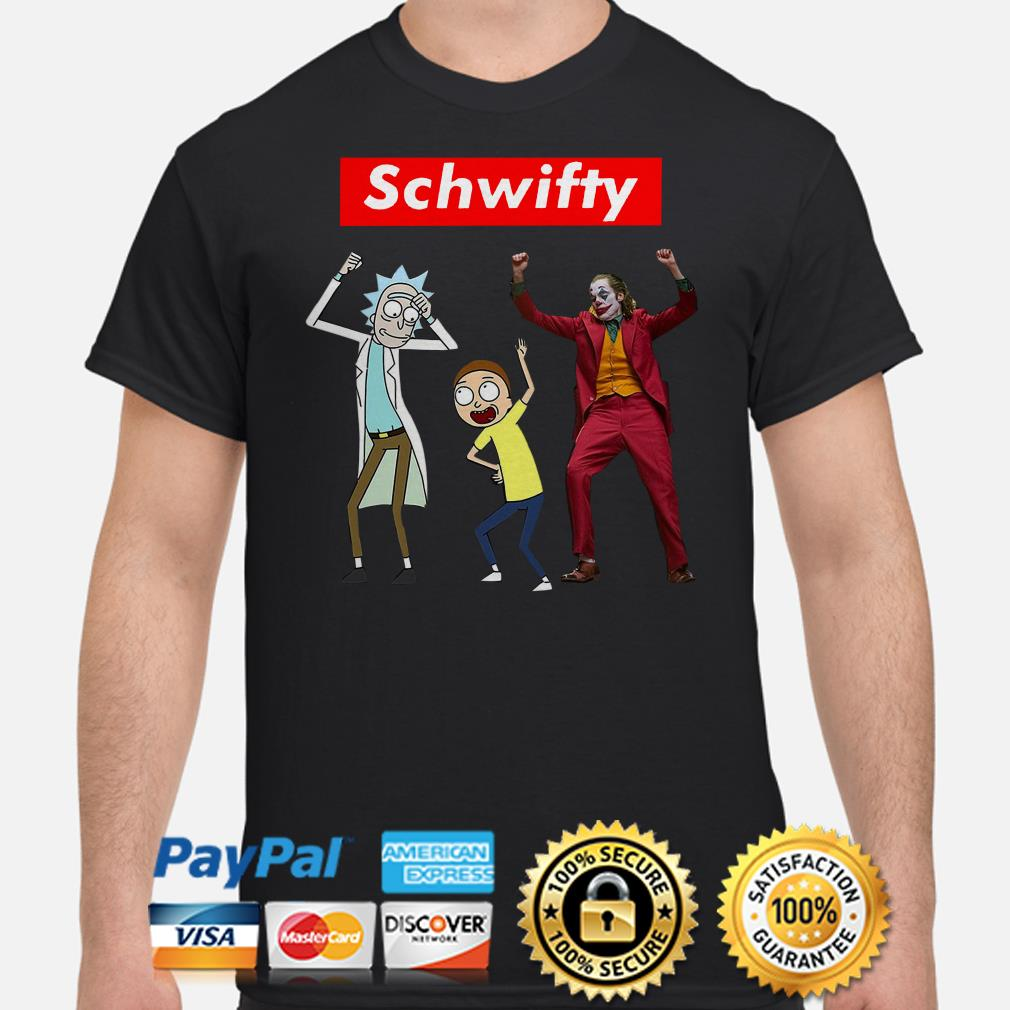 Rick and Morty and Joker dancing Schwifty shirt