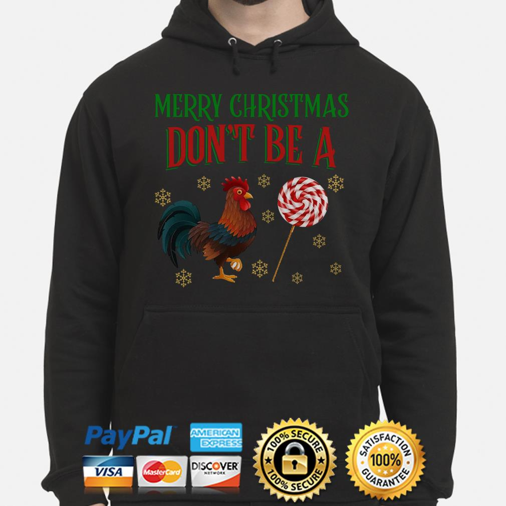 Rooster Merry Christmas Don't be a sucker Christmas hoodie