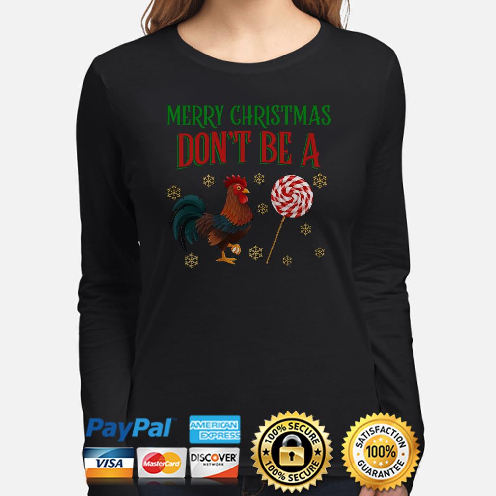 Rooster Merry Christmas Don't be a sucker Christmas long sleeve