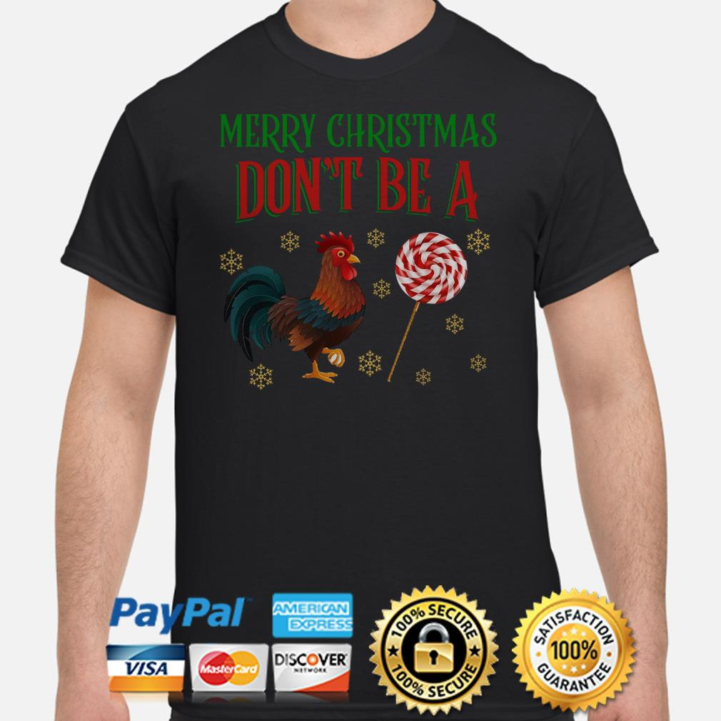 Rooster Merry Christmas Don't be a sucker Christmas T-shirt