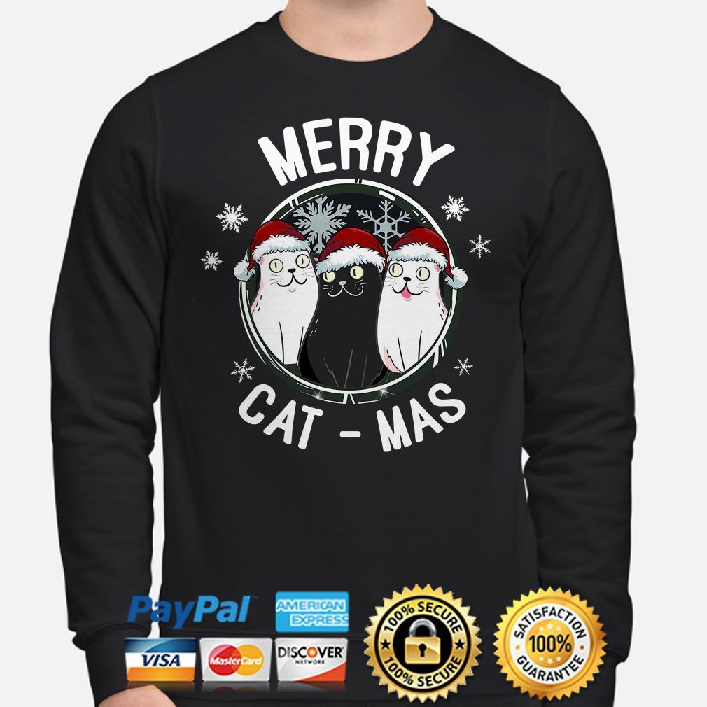 Santa Cats Merry Cat-mas Christmas sweater