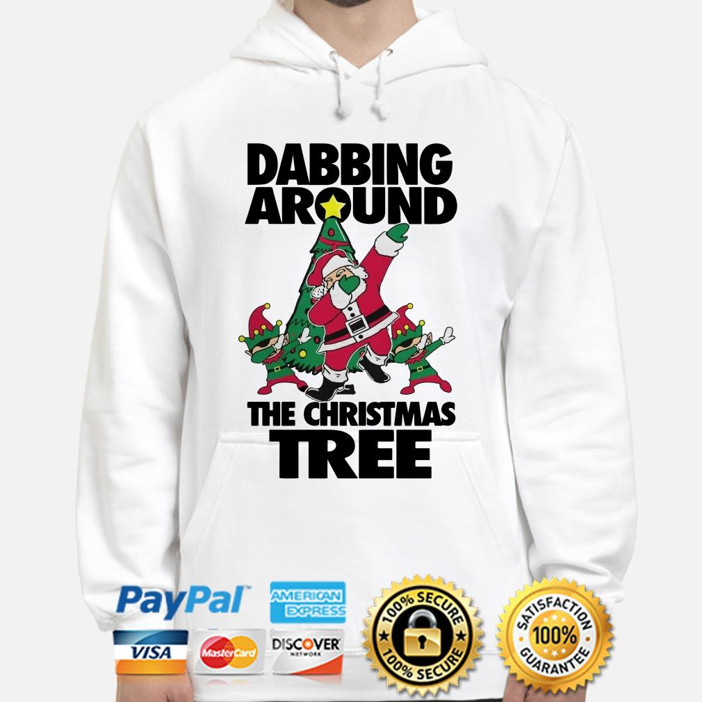 Santa Claus Dabbing around the Christmas tree hoodie