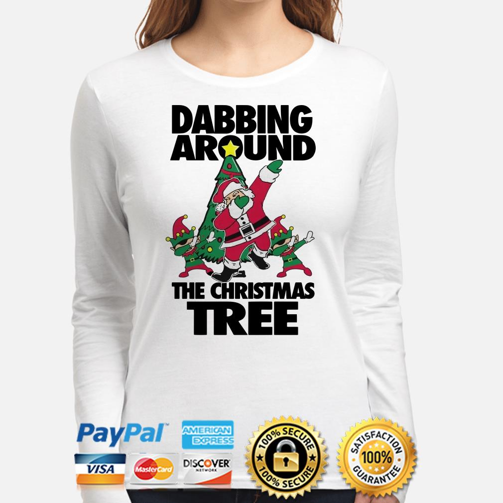 Santa Claus Dabbing around the Christmas long sleeve