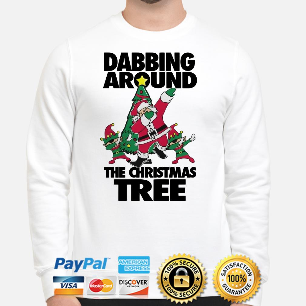 Santa Claus Dabbing around the Christmas tree sweater